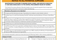 Notice to potential suppliers